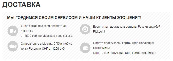 Как оформить страницу доставки в интернет-магазине